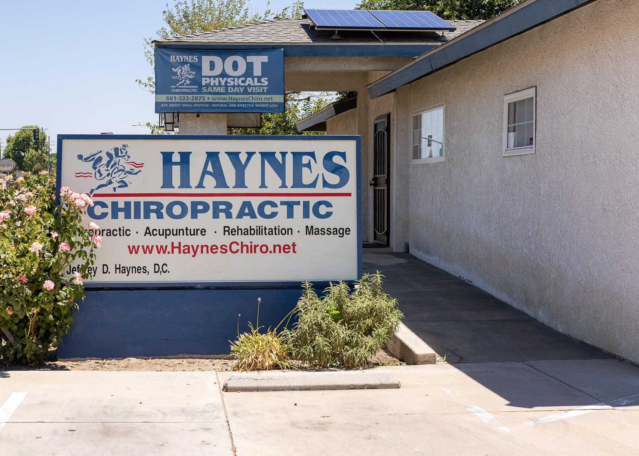 Chiropractic examinations building